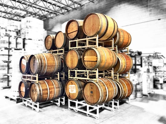 SanTan Distilling includes barrels from Arizona wineries for aging spirits.