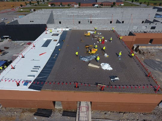 This file photo shows the construction of Rockvale High, which opened southwest of Murfreesboro in August.