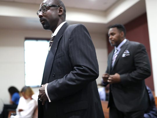 Vincent Crump, left, an ex-Tallahassee Police officer