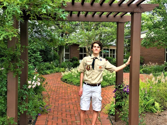 Steven McInerney of Basking Ridge, NJ, has fulfilled his Eagle Scout service project requirement with the construction and installation of an arbor at the entrance to the hospice garden at the VNA of Somerset Hills headquarters in Basking Ridge, NJ. McInerney is a member of Basking Ridge Troop 555, part of the Patriots' Path Council.