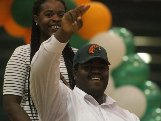 FAMU DRS offensive lineman Terrence Cambridge, a first-team