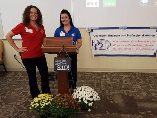 Emily McBurney and Samantha Vincent at the 2016 BPW Cake Auction. The annual event will be at 2 p.m. Sept. 23 at the Frontier Power Community Room.