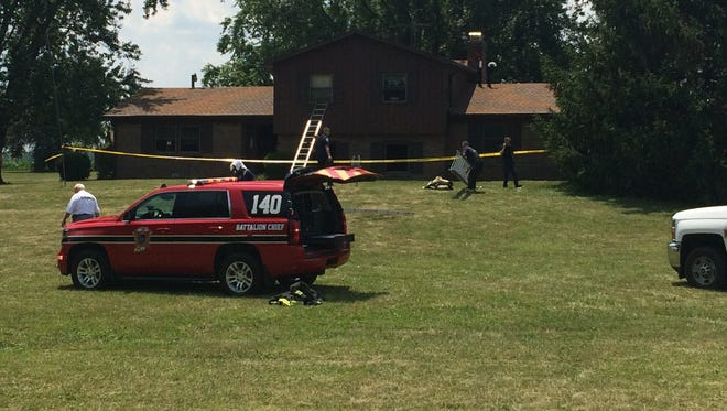 An elderly man was found dead in this Avon house Sunday after a fire.