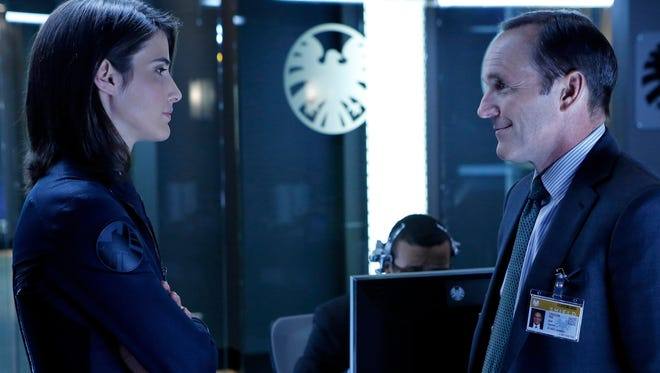Clark Gregg and guest star Cobie Smulders on 'Marvel's Agents of S.H.I.E.L.D.'