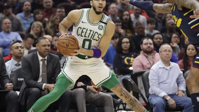 """""""I think scrimmaging will help with our conditioning, just getting up and down and just playing as hard as we can,"""" Celtics forward JaysonTatum said."""