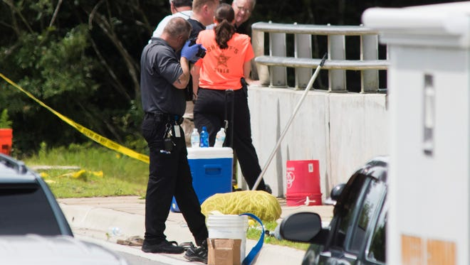 Members of the Escambia County Sheriff's Office continue the investigation into the death of Naomi Jones on Tuesday, June 6, 2017, near Ashland Avenue and Detroit Boulevard.