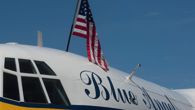 Fat Albert is polished and ready for the 2017 Blue Angels Air Show at Pensacola Beach. The plane has been grounded since July, and there is no definite date for its return to the team.