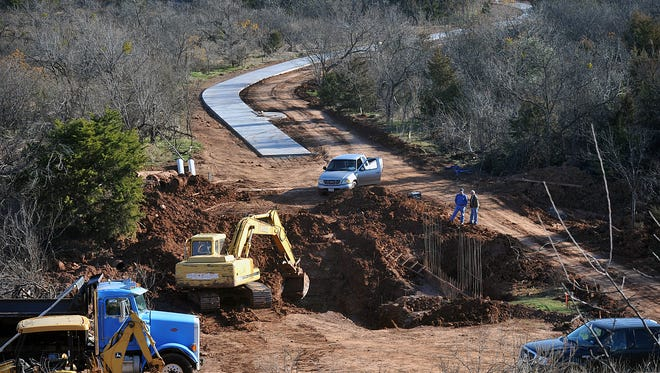 Construction continued through 2016, on the Circle trail near the Wichita Bluffs nature overlook. City Council will be considering potential projects for a future bond proposal, including a proposed $45 million in parks and Lake Wichita improvements.