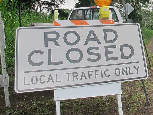 web - road closed
