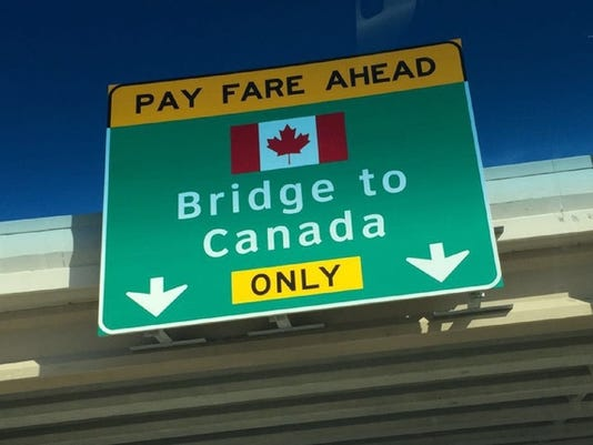 Bridge To Canada Sign