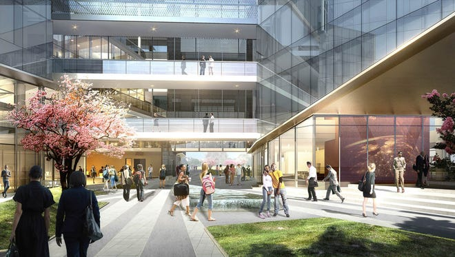 Renderings of the Sandra Day O'Connor Law School under construction in downtown Phoenix.