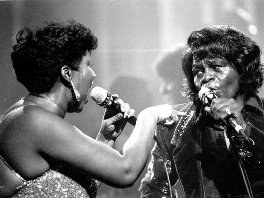 James Brown and Aretha Franklin sing together in January