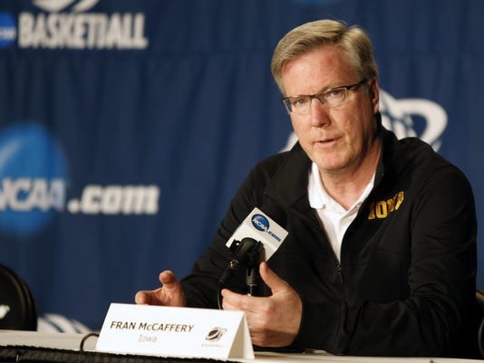 NCAA Basketball: NCAA Tournament-Iowa Practice