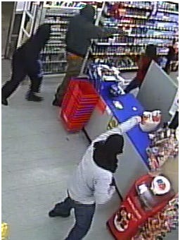 Three armed robbery suspects sought