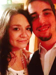 Girlfriend Sarah Fabrizio and CJ Levchak.