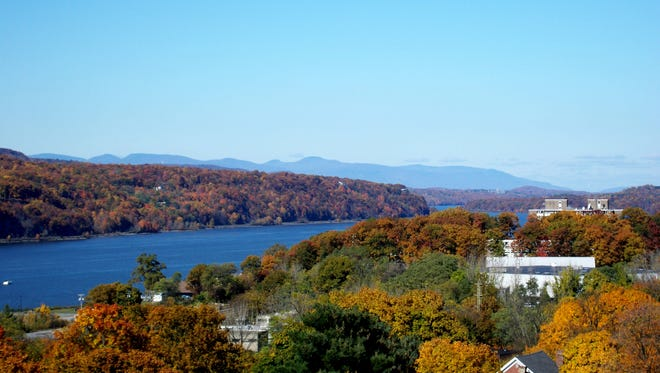A view of the Hudson Valley from the Walkway Over the Hudson.