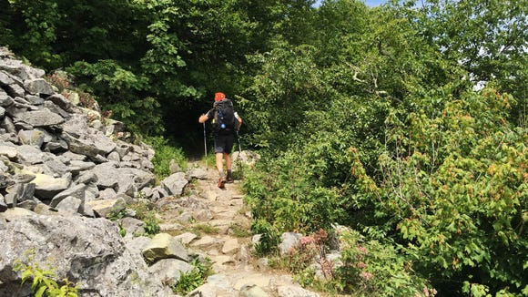 Cori Strathmeyer took this photo of Gunter, a thru hiker from Germany, on the Appalachian Trail.