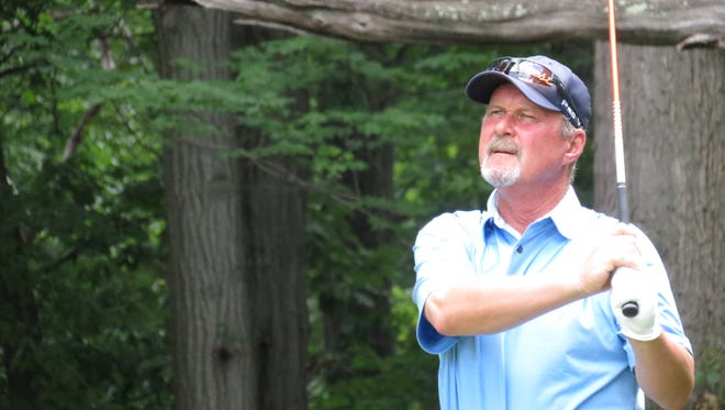 Two-time defending champ Jim McGovern is one shot off the lead at the 29th New Jersey Senior Open Championship.