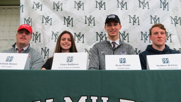 New Milford Commitment Ceremony: From left: Jackson