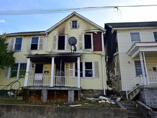 Fire gutted a duplex at 245-247 Ringgold Street, Waynesboro. Damage also occurred at 249-251 Ringgold Street. Four families were displaced and the buidings were declared uninhabitable following the fire on Tuesday, December 13, 2016.