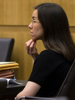 Jodi Arias during the sentencing phase of her retrial at Maricopa County Superior   Court in Phoenix on February 4, 2015, 2015.