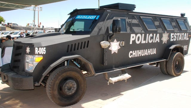 Chihuahua state police armored vehicle