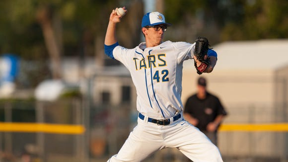 MLB draft pick Brad Case throws in a Rollins baseball