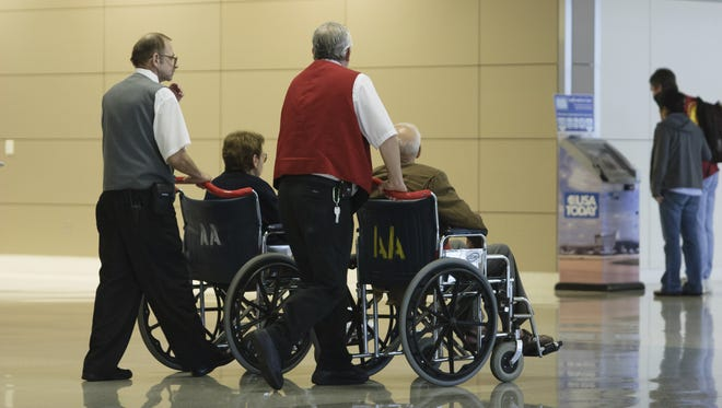 While airlines will provide wheelchair assistance to anyone who has difficulty making it to the gate, they don't provide assistance to passengers who may have some cognitive issues.