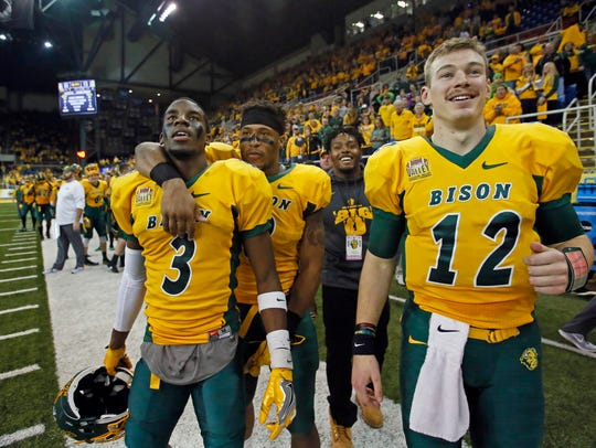North Dakota State's Tre Dempsey, Bruce Anderson, Lance