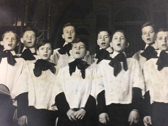 Richard Best, lifelong chorister, is front row, second