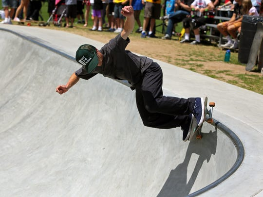 Vans plans to open a new store in the Fox River Mall. The shoe company brought in professional skateboarders and BMX riders for the 2015 grand opening of the Appleton Skate Park, shown here.