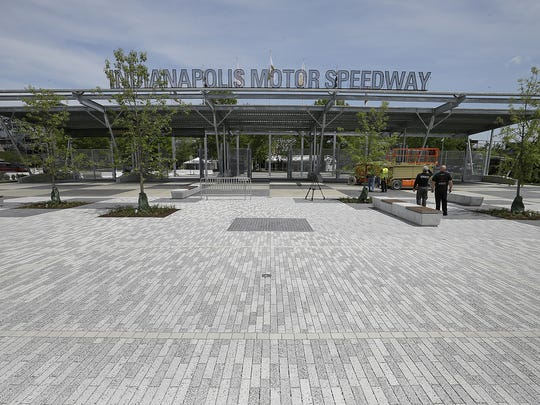 The new Gate 1 Plaza for fans at IMS.