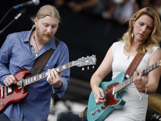 Derek Trucks and Susan Tedeschi and their band play at Highland Bowl.