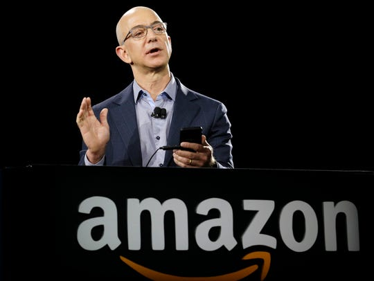 File photo taken in 2014 shows Amazon CEO Jeff Bezos