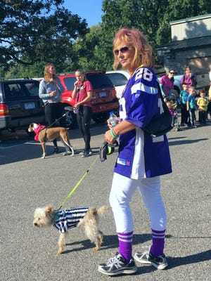 Dogs — and their humans — could compete in a costume contest as part of the Woofstock 5K Companion Walk for the Tri-County Humane Society at Wilson Park on Saturday, Sept. 9.