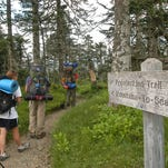 The Mountains to Sea trail begins at Clingmans Dome.