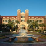 The iconic Westcott Hall at Florida State University sits at the western end of College Avenue. Bill Lax/Florida State University