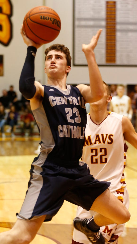 Jonah Switzer of Central Catholic glides through the