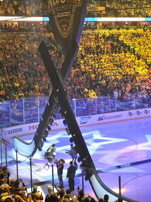 Predators defenseman Shea Weber is introduced at the NHL All-Star Game in Bridgestone Arena on Jan. 31, 2016. Buoyed by the successful All-Star Game, Predators executives say the team's business operations have been on a hot streak.