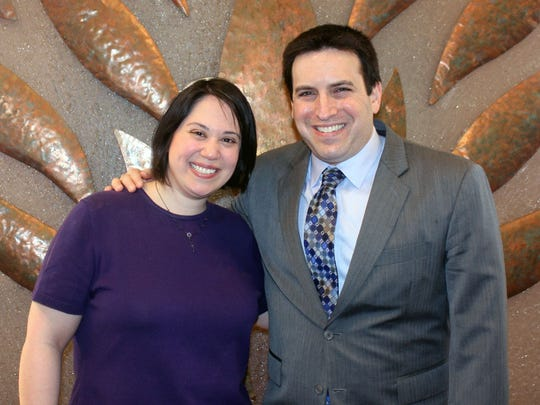 New clergy who will be part of the Reformed Temple of Rockland: From left, Cantor Sally Neff and Rabbi Ben Sharff.