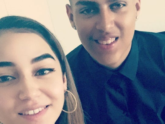 Jessica Montes and her cousin Kenny Figueroa