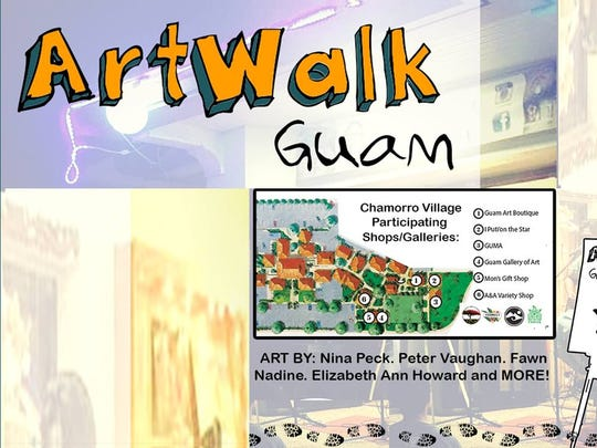 Flyer for ArtWalk Guam, going on from 6 to 9 p.m., July 1.