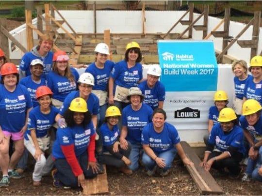The Raritan Valley Habitat Women Build Team.