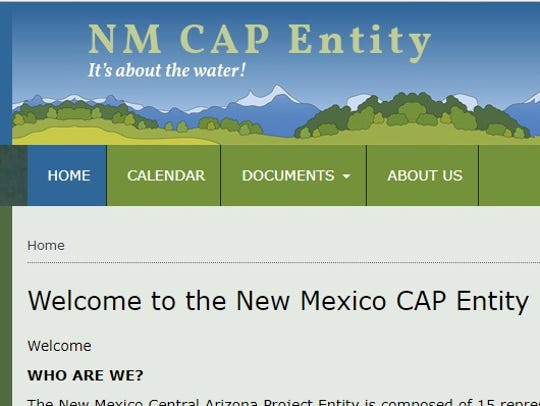 Screenshot of the New Mexico CAP Entity home page.