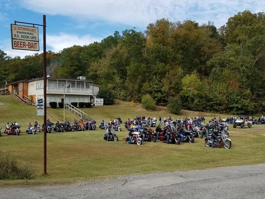 Nearly a hundred motorcycles participated in the Oct.
