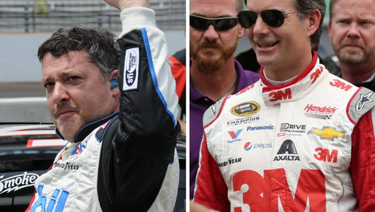 Could Tony Stewart (left) and Jeff Gordon face off
