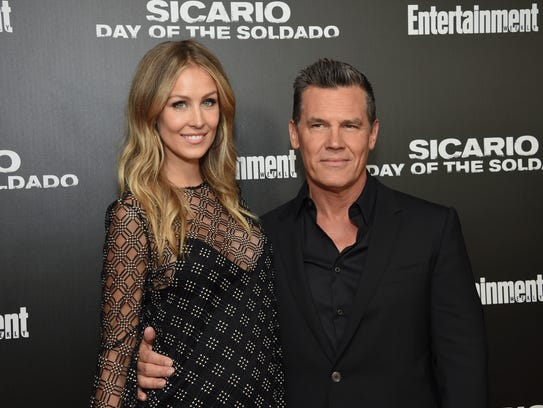Josh Brolin and pregnant wife Kathryn Boyd attend a