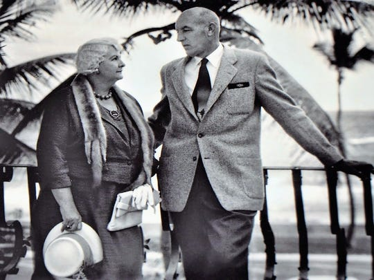Anne and Willaford Leach in the late 1930s. In 1936, the couple had their Tuckahoe Mansion built on a 70-acre parcel along the Indian River in Jensen Beach.
