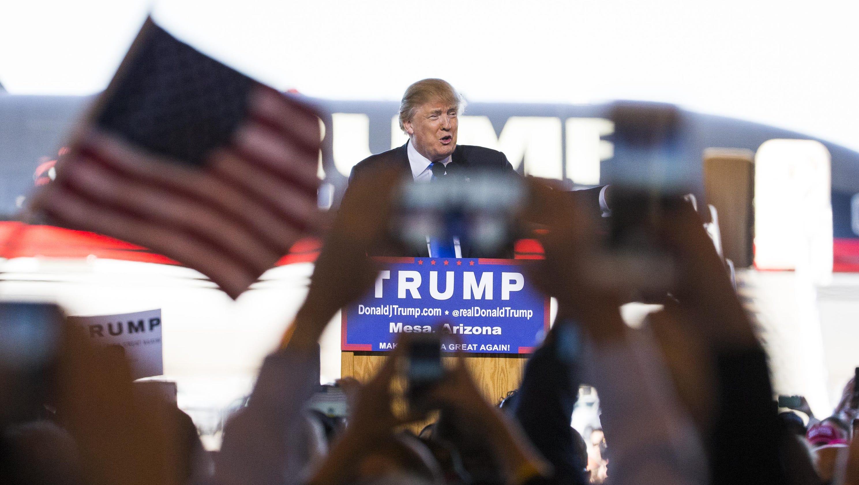 Donald Trump draws thousands to Mesa rally