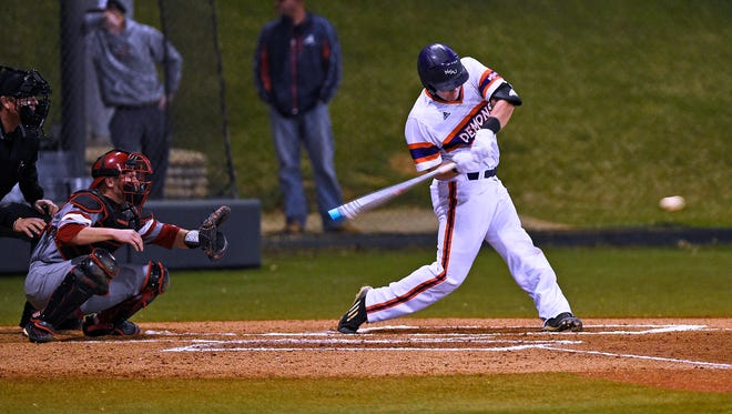 Northwestern State's David Fry was 2-for-5 with an RBI against Nicholls State on Friday.
